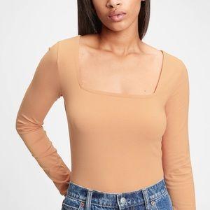 GAP square neck bodysuit